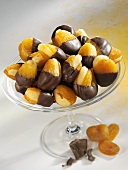 Apricot marzipan sweets