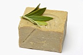 Olive soap and olive leaves