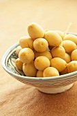 Fresh dates in Middle Eastern bowl