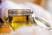 Honey in a preserving jar