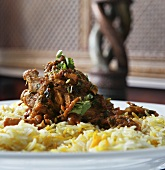 Indian chicken dish with rice
