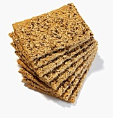 A pile of crispbread