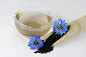 Love-in-a-mist (tea, seeds and flowers)