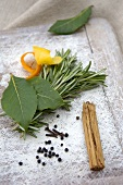 Herbs and spices (ingredients for bottling plums)
