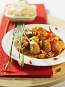 Chicken dish with chili and peanuts (China)