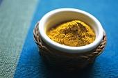 Curry powder in a dish