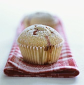 Two strawberry muffins