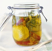 Pickled lemons with chilli and garlic