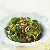 Chard salad with pine nuts and raisins