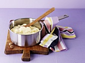 Mashed potato in a pan