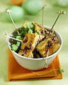 Mushroom and herb tortilla appetisers