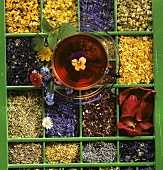 Flavourings for tea in type case