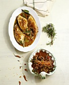 Braised rabbit and mutton ragout with lentils (Italy)