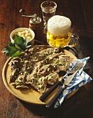 Kronfleisch (Beef diaphragm muscle, Bavaria)