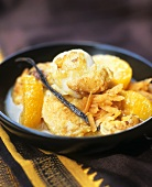 Scallops in orange sauce (Ayurvedic cuisine)
