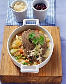 Tafelspitz (boiled beef) with horseradish potatoes