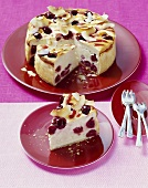 Cherry and coconut cheesecake
