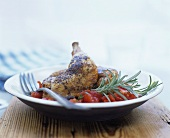 Spicy rosemary chicken with tomato sauce