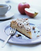 A piece of apple crumble cake