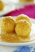 Loukoumathes (Sweet, deep-fried pastry balls, Greece)