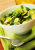 Courgette salad with mint