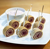Slices of Swiss roll on sticks