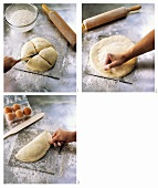 Making calzone