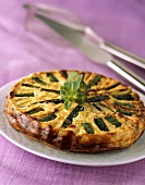 Courgette and feta tart with mint
