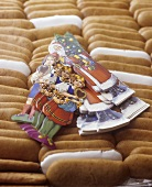 Printen (a type of gingerbread) with Christmas decorations