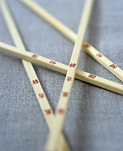 Chopsticks with Chinese characters