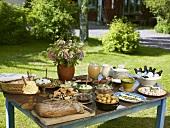 Summer buffet in the open air