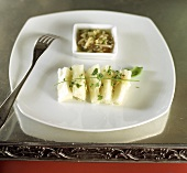 Ceviche (Raw fish with lime and onion marinade)