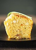 Savoury cake with crabmeat and chives