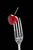 Cherry on a fork