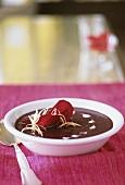 Beetroot soup with coriander (Ayurveda, good for Vata & Pita)