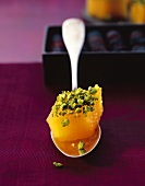 Quince sweet with pistachios