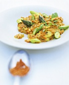 Asparagus and lentil dish in the style of an Indian dal