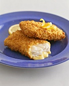 Two pieces of breaded cod