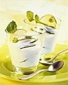 Lime yoghurt cream