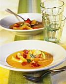 Cold apricot soup with ginger