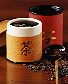 Chinese tea caddies with tea