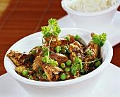 Turkey stew with peas