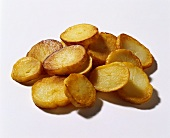 Deep-fried potato slices