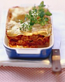 Lasagne with chicken bolognese