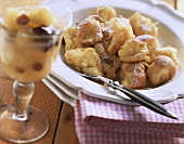 Scrambled pancakes (Kaiserschmarren) with almonds & sultanas