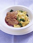 Duck breast with port wine