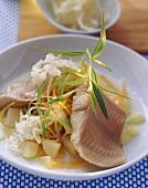Catfish in horseradish stock