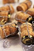 Several champagne corks