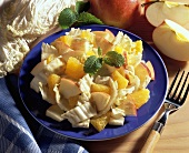 Chinese cabbage salad with fresh fruit