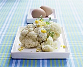 Cauliflower with egg and herb sauce